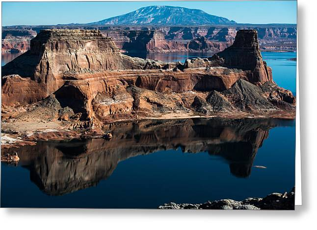Deep Reflections In Lake Powell Greeting Card