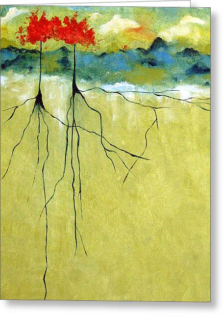 Tree Roots Greeting Cards - Deep Roots Greeting Card by Ruth Palmer