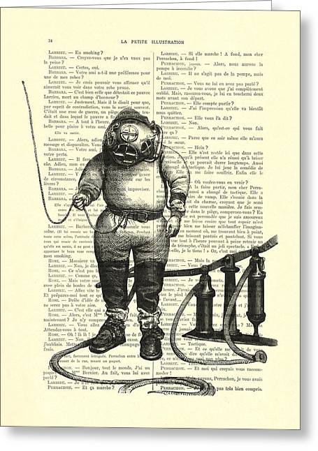 Deep Sea Diver Greeting Card