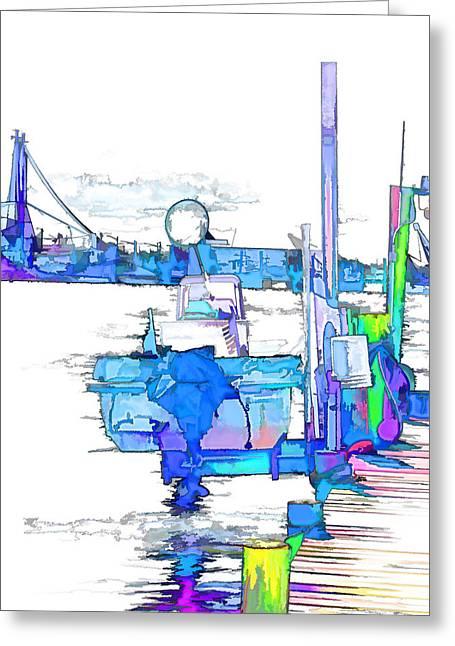 Deep Sea Fishing Boats In Swansboro North Carolina 1 Greeting Card by Lanjee Chee