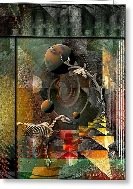Deep Soul Journey Greeting Card by Mimulux patricia no No