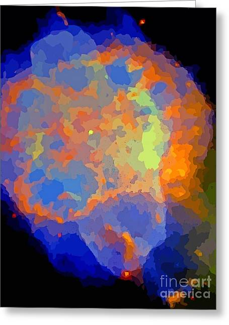 Deep Space Colors Greeting Card by John Malone