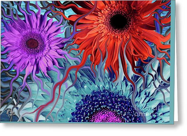 Deep Water Daisy Dance Greeting Card by Christopher Beikmann