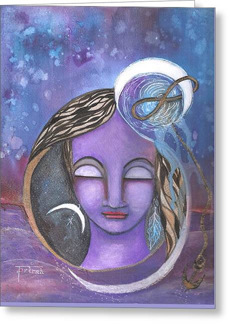 Greeting Card featuring the mixed media Deep Within by Prerna Poojara