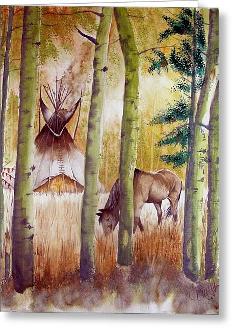 Deep Woods Camp Greeting Card by Jimmy Smith