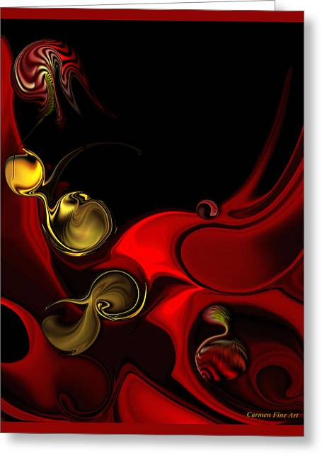 Greeting Card featuring the digital art Deeper Reappearance Of High Energy by Carmen Fine Art