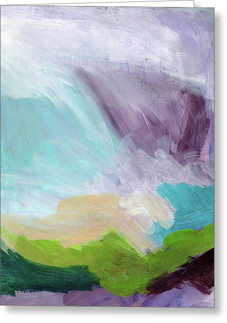 Deepest Breath- Abstract Art By Linda Woods Greeting Card