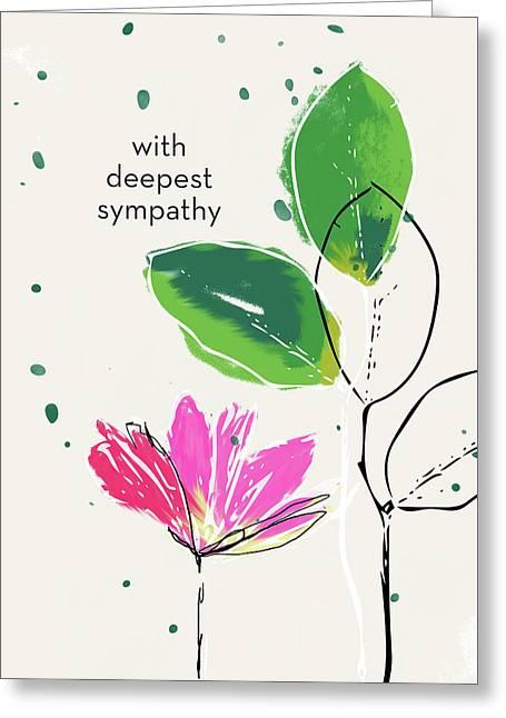 Deepest Sympathy Daisy- Art By Linda Woods Greeting Card