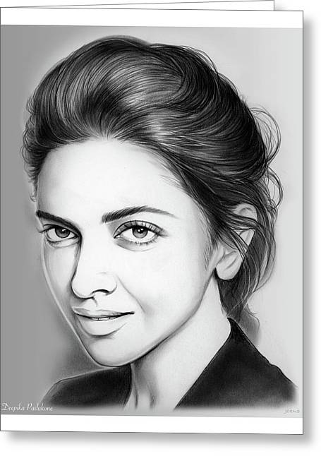 Deepika Padukone Greeting Card