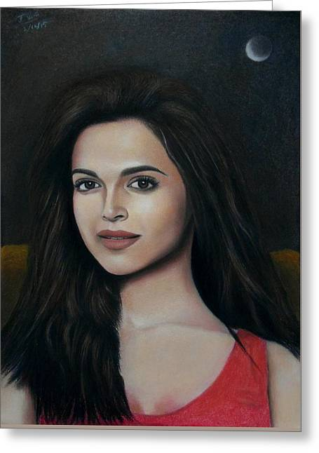 Deepika Padukone - The Enigmatic Expression Greeting Card