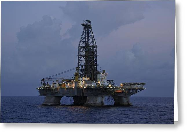 Greeting Card featuring the photograph Deepwater Horizon Twilight by Bradford Martin