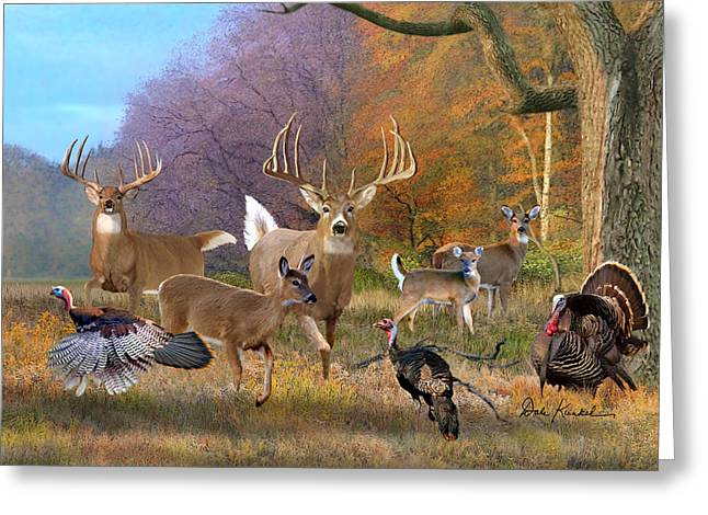 Deer Art - Field Of Dreams Greeting Card by Dale Kunkel Art