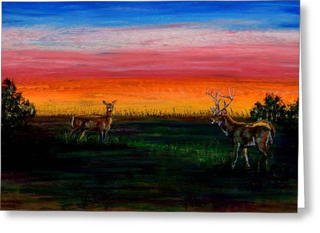 Deer Dawn Greeting Card