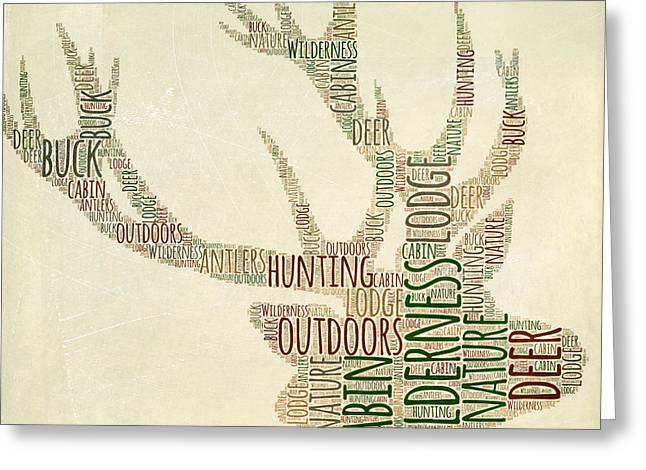 Deer Head Greeting Card