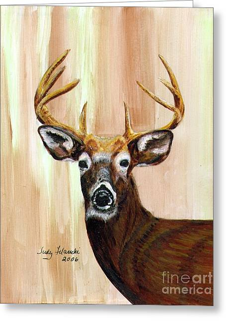 Deer Head Greeting Card