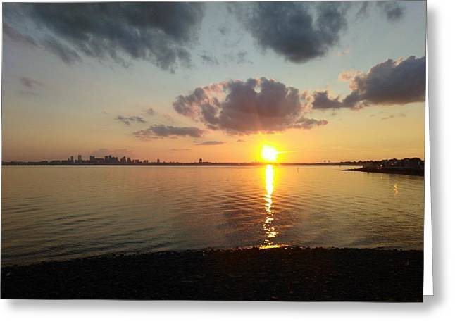 Deer Island Sunset Greeting Card