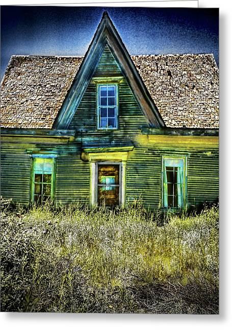 Deer Isle Haunted House Greeting Card