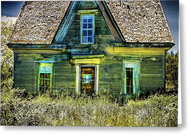 Deer Isle Haunted House Greeting Card