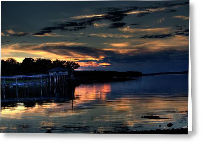 Greeting Card featuring the photograph Deer Isle Sunset I by Greg DeBeck