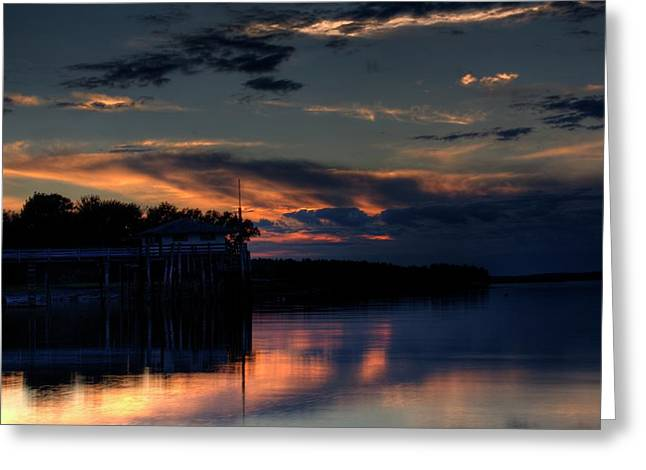 Greeting Card featuring the photograph Deer Isle Sunset II by Greg DeBeck