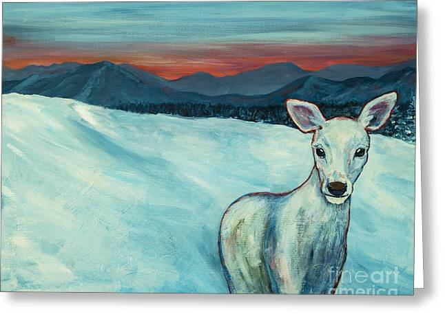 Greeting Card featuring the painting Deer Jud by Angelique Bowman