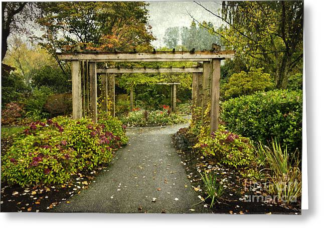 Fall In The Garden At Deer Lake Greeting Card