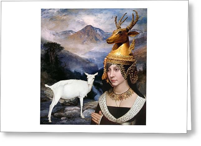 Deer Medicine Woman Greeting Card