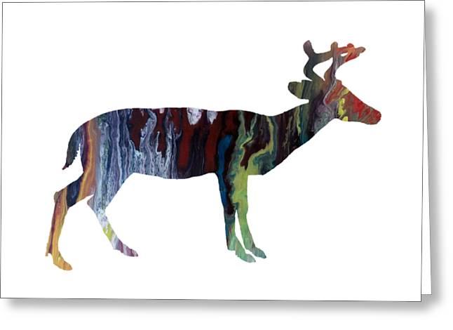 Deer Greeting Card by Mordax Furittus