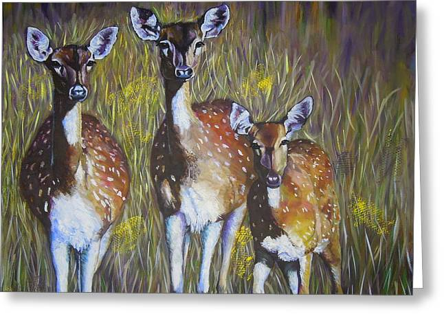 Deer On Guard Greeting Card