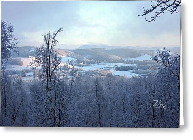 Deer Valley Winter View Greeting Card by Meta Gatschenberger