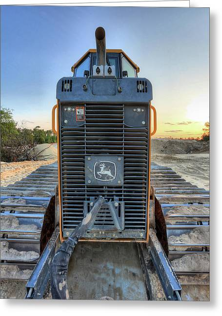 Deere Heavy Equipment  Greeting Card by JC Findley