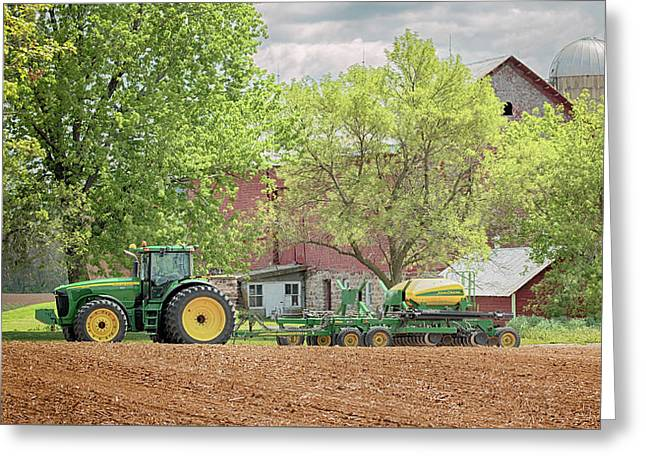 Greeting Card featuring the photograph Deere On The Farm by Susan Rissi Tregoning