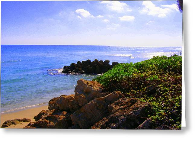 Greeting Card featuring the photograph Deerfield Beach by Artists With Autism Inc
