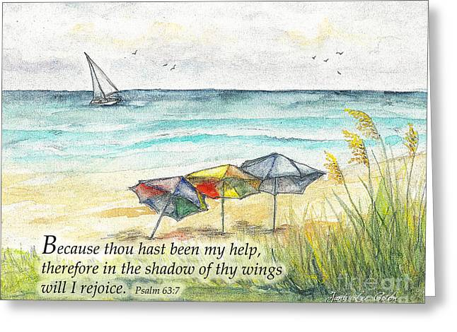 Deerfield Beach Umbrellas Psalm 63 Greeting Card
