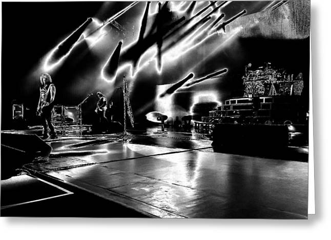Def Leppard At Saratoga Springs 5 Greeting Card by David Patterson