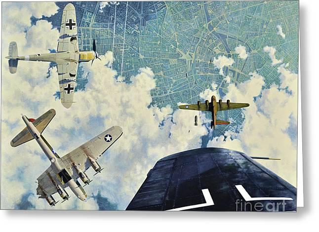 Defender. The Battle Of Berlin Greeting Card by Oleg Konin