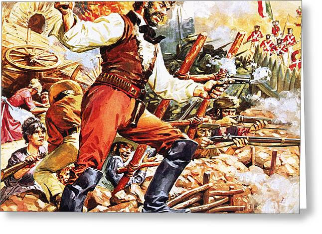 Defending The Alamo Greeting Card by CL Doughty