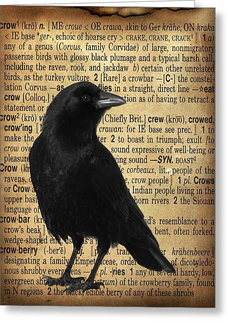 Defining Crow Greeting Card