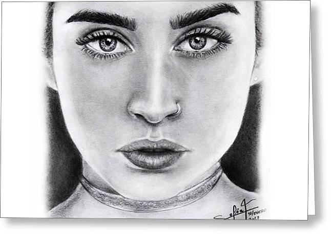 Lauren Jauregui Drawing By Sofia Furniel  Greeting Card