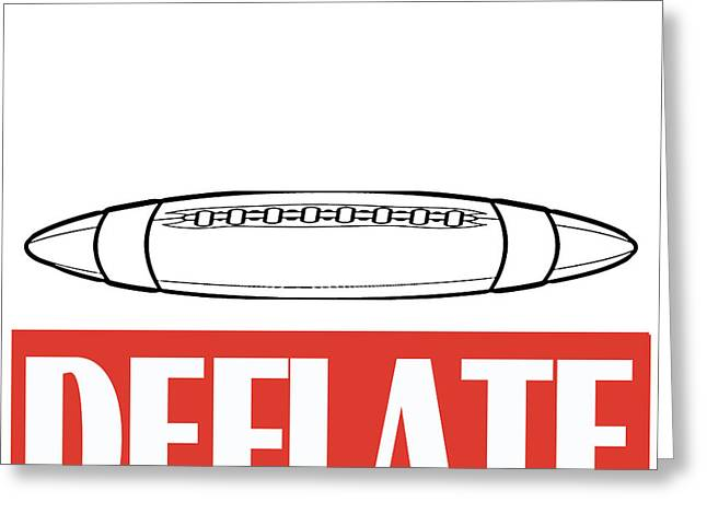 Deflate Greeting Card by Edward Fielding