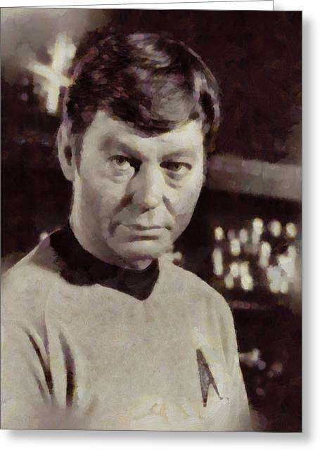 Deforest Kelley, Dr. Mccoy, Star Trek Vintage Greeting Card