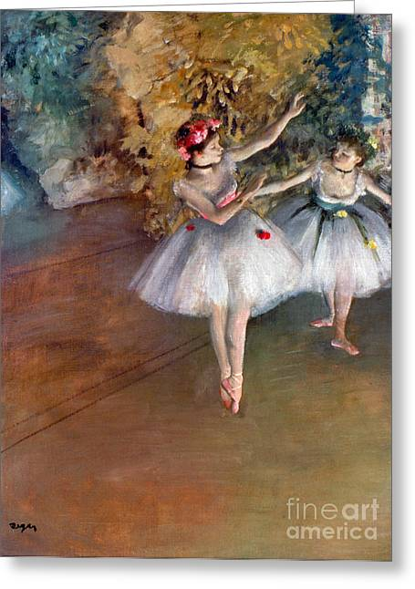 Degas: Dancers, C1877 Greeting Card