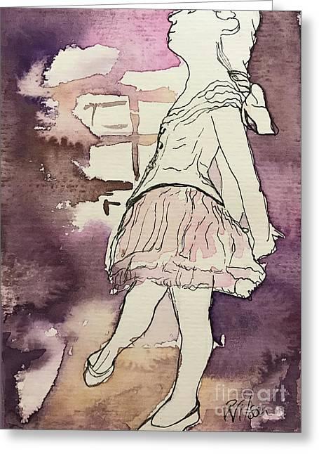 Degas Little Dancer Study Greeting Card by D Renee Wilson