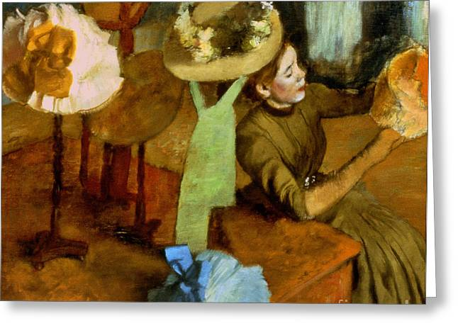 Degas: Milliner, 1879-84 Greeting Card