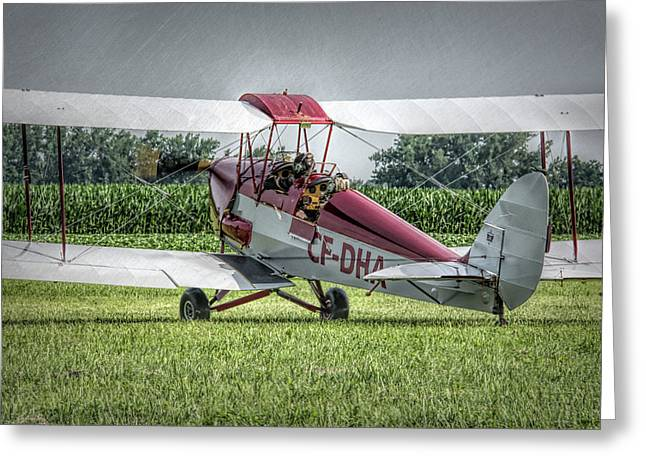 Dehavilland Dh-82c Tiger Moth Greeting Card by Guy Whiteley