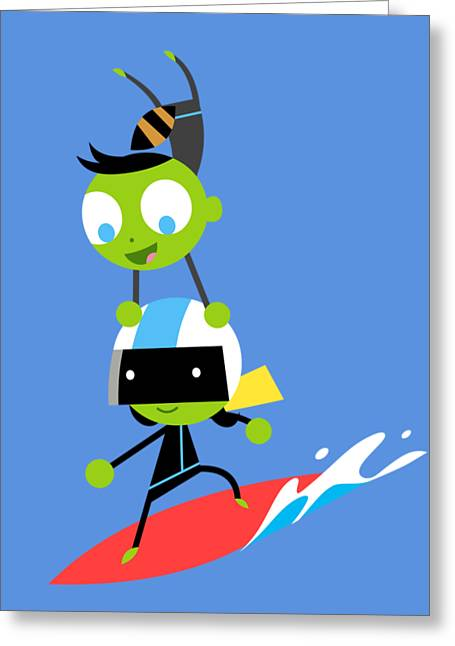 Del And Dee Surf Greeting Card by Pbs Kids