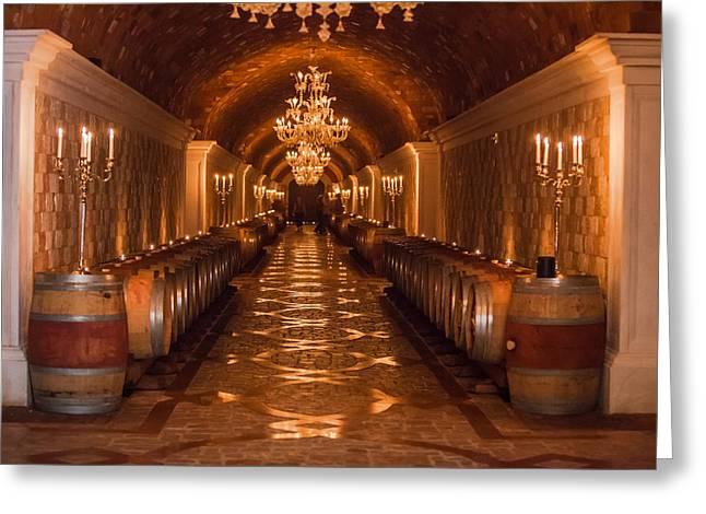 Del Dotto Wine Cellar Greeting Card