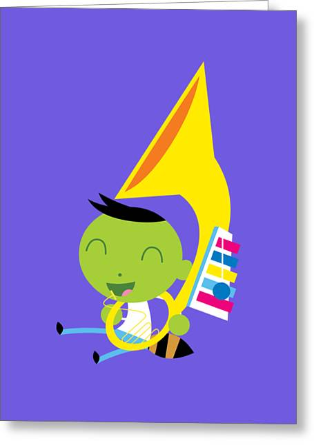 Del Instrument Greeting Card by Pbs Kids