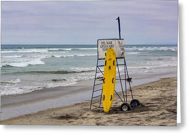 Del Mar Lifeguard Tower Greeting Card