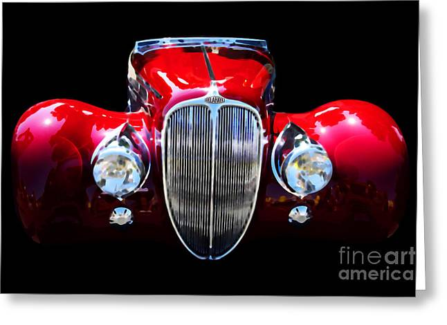 Delahaye Reinterpreted Greeting Card by Wingsdomain Art and Photography